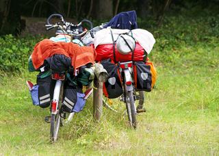 Fahrräder auf Tour - Urlaub