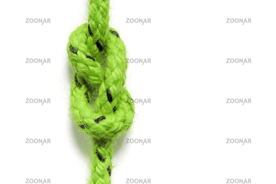green knot isolated on white background