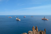 drilling ships and drill rigs / oil and gas platform offshore