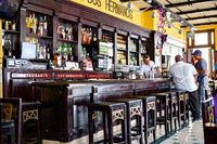 Havana, Cuba - December 12, 2016: Mojito cocktail in a bar in Cuba / Havana in Havana Club Rum glasses