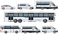 Vector realistic city transport mock-up