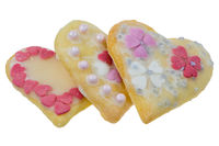 Isolated Sweet Christmas Cookies in heart shape
