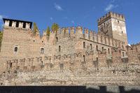 Die Burg Castelvecchio in Verona, Italien
