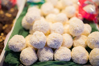 coconut cookies on stall