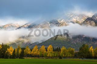 Gorgeous autumn in the Rocky Mountains