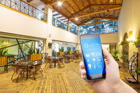 smart phone with smart home and dining room