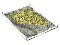 Nevada on unfolded map sheet.