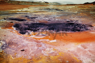 Geothermal zone in Iceland