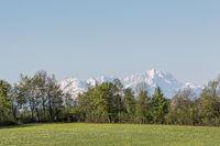 Landschaft bei Deining in Oberbayern