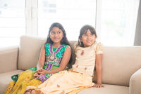 Indian children at home