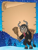 Parchment with Krampus theme 3