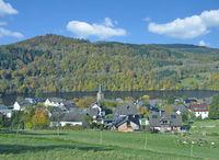 Urlaubsort Einruhr am Rurstausee in der Eifel,NRW,Deutschland