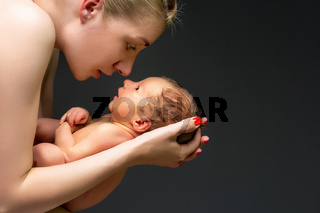 mother with newborn child