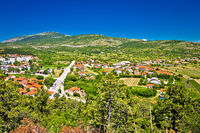 Petrovo Polje and town of Drnis view