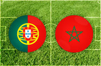 Portugal vs Marocco football match