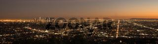 Beautiful Light Los Angeles Downtown City Skyline Urban Metropolis