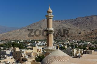 Nizwa. Nizwa Fort. Sultanate of Oman. Saltanat ʿUmān.