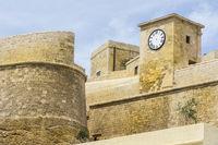 Citadel of Victoria on island Gozo