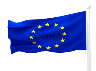 flag of europe on white