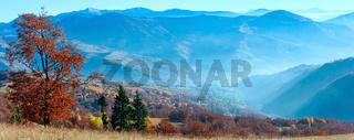 Carpathian autumn panorama.