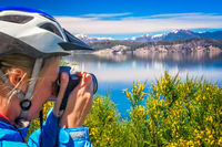 Taking pictures of amazing landscape
