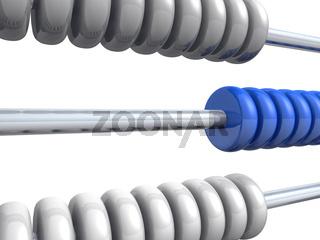 3D Rechenschieber - Silber Blau 02