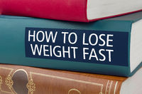 A book with the title How to  lose weight fast