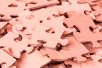 Pile of Red Puzzle Pieces