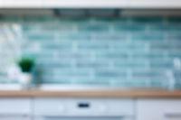 Blurred view of kitchen interior