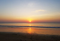 Beautiful sunset and the beach