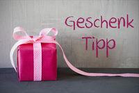 Pink Present, Geschenk Tipp Means Gift Tip