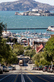 Cable Car und Alcatraz