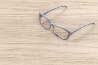 Modern female eyeglasses