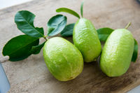 Fresh organic green lemons