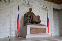 Statue of Chiang Kai-Shek inside Memorial Hall