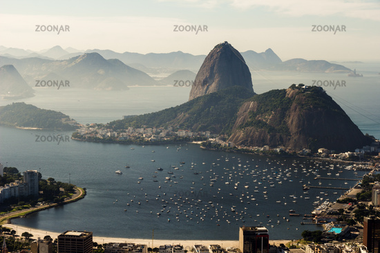 Morning at Guanabara Bay, Flamengo Beach and Urca