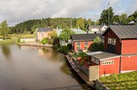 Old wooden houses in Porvoo, Finland