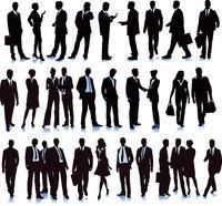Gruppe mit diversen Geschäftsleuten, Illustration