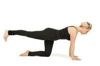 Yoga woman black_cat