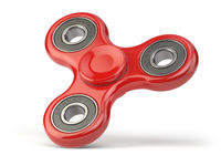Fidget finger spinner stress, anxiety relief toy isolated on white backround.