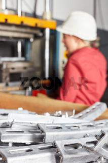 Werkstücke aus Metall oder Stahl