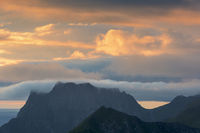 Abendstimmung ueber dem Atlantik, Vestvagoeya, Lofoten
