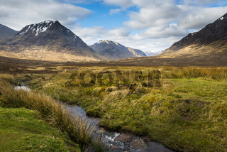 Scottish Highlands with Creek