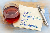 I set smart goals and take action