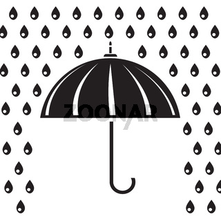 silhouette of umbrella