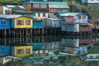 Palafitos Houses, Patagonia, Chiloe, Chile