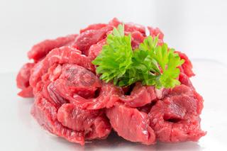 Vorbereitung für die Pfanne - Fleisch, frisch vom Metzger