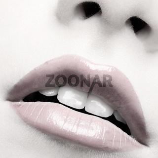 beautiful girl's lips