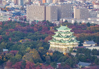 Aerial view Nagoya Castle