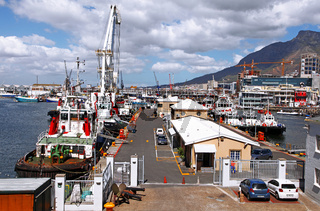 Hafen an der Waterfront in Kapstadt, Südafrika, port at Waterfront in Cape Town, South Africa